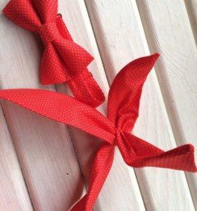 Повязка в стиле pin-up + галстук-бабочка