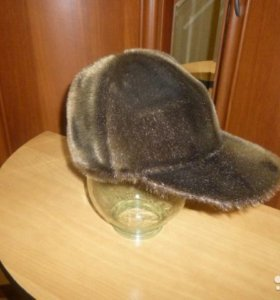 Зимняя кепка мужская из нерпы. Размер М