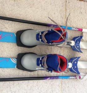 Лыжи с ботинками размер ботинок 30