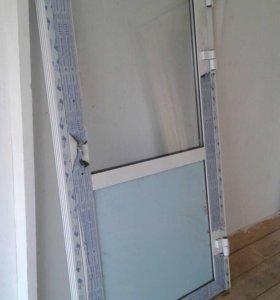 Дверь алюминиевая- холодная 1900:1000.