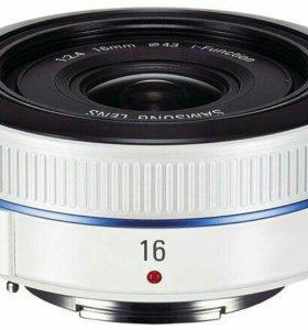 Объектив Samsung NX 16mm f/2.4 Блинчик