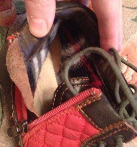 Ботинки осенние на войлоке!