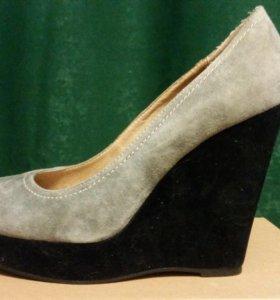 Туфли  женские размер 38 замша