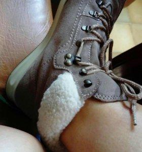 Ботинки димисизон, замша новые