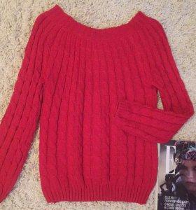 Новый свитер крупной вязки