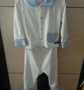 Белый вилюровый костюм