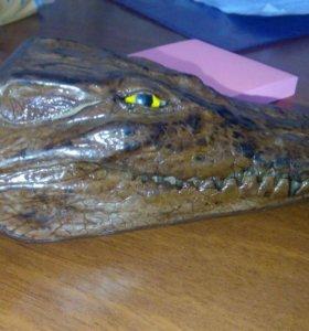 Брелок нат.кожа крокодил
