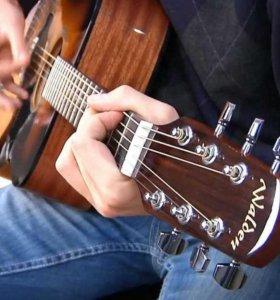Профессиональная акустическая гитара Walden D350.