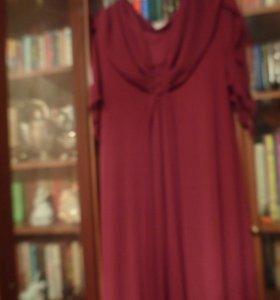 Платье из шифона в пол 54 размер