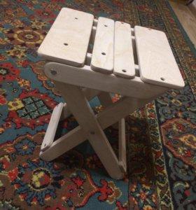 Раскладной деревянный стульчик