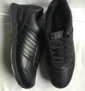 Кожаные кроссовки Адидас
