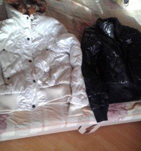 Куртки демисезонные белая,чёрная,красная,хор сост