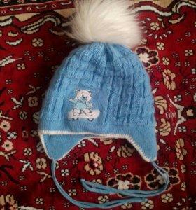 Зимняя шапка на годик
