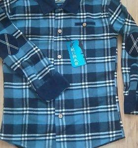 Рубашка тёплая, зима, новая, на 7-8 лет
