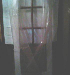 Дверь межкомнатная с коробкой и стеклами