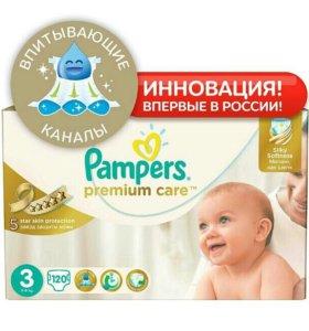 Подгузники Pampers premium care 3