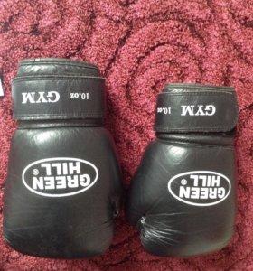 Боксерские перчатки green hii 10 oz