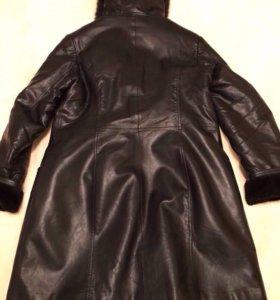 Пальто кожа