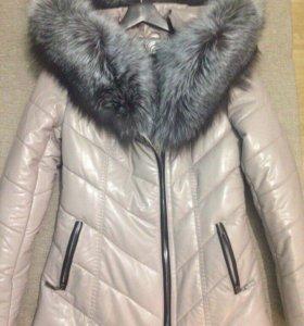 Новая зимняя куртка с натуральным мехом