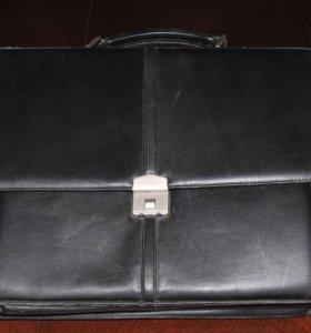 Портфель для бизнеса винтаж кожа замша