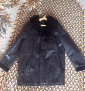 Куртка мужская натуральная кожа и мех р-р52-54