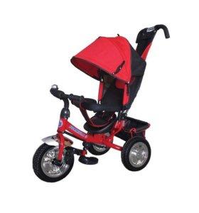 Новый велосипед трехколесный черно-красный