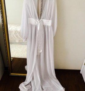 Накидка на купальник, будуарное платье