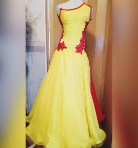 Платье для бальных танцев. На Ю-2.