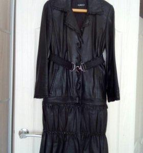 куртка-плащ 2 в 1 натуральная кожа торг рассрочка