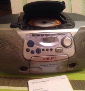 """Бумбокс """"PHILIPS"""" MP3-CD"""