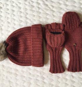 Шапка+перчатки Accessoriez.Зима.Состояние 4