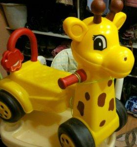 Каталка жирафик