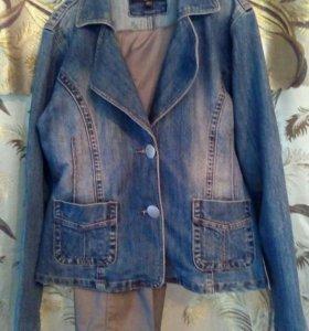 Джинсовый пиджак бу 50-52