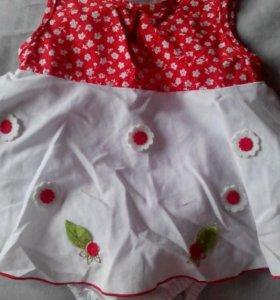 Платье- боди для малышки.