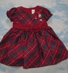 Платье бордовое. Дисней