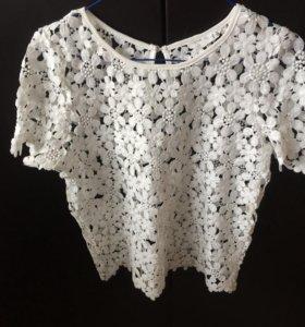 Блуза кружевная 46 р