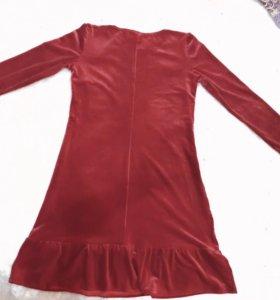 Платье велюр S