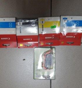 Картриджи для цветных принтеров Canon HP Epson
