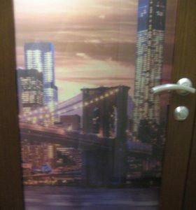 Дверь межкомнатная НОВАЯ 700х2000 мм с панорамой