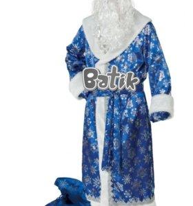 Дед Мороз сатин синий