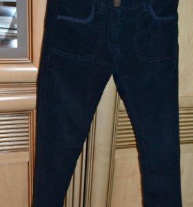 Темно-синее, вельветовые стрейчевые джинсы
