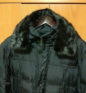 Куртка-пуховик зимняя воротник норка