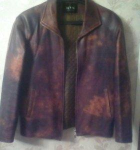 Куртка кожаная XL