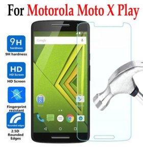 На Motorola X play бронь стекло с установкой