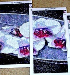 """Картина алмазной выкладки """"Орхидея"""""""