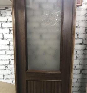 Дверное полотно 201х70 с коробкой