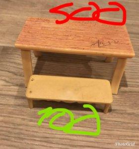LPS мебель стол, стул, скамейка, коробки 📦