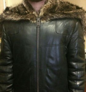 Кожаная брендовая куртка