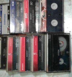 кассеты 8мм. для видеокамеры