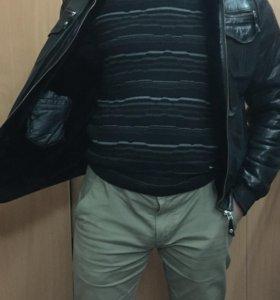 Кожанная куртка зимняя